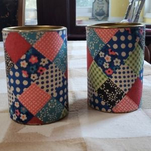 Vintage Handmade Soup Can Containers
